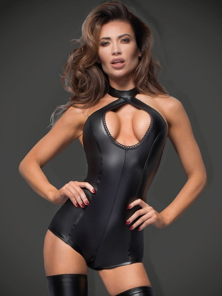Noir Handmade: Wetlook-Body F169, schwarz