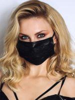 Noir Handmade: Maske mit Spitze, schwarz