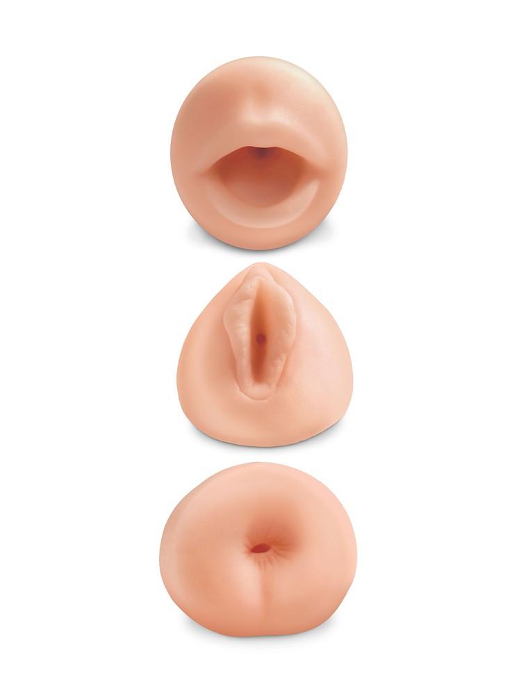 Pipedream All 3 Holes: Masturbator-Set, haut
