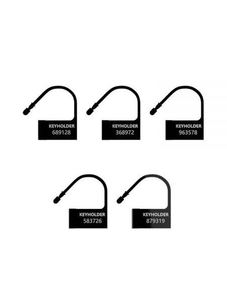 ManCage Spare Lock: Kunststoff-Schloss 5 Stück, schwarz