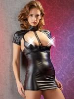 Hebe-Minikleid, schwarz
