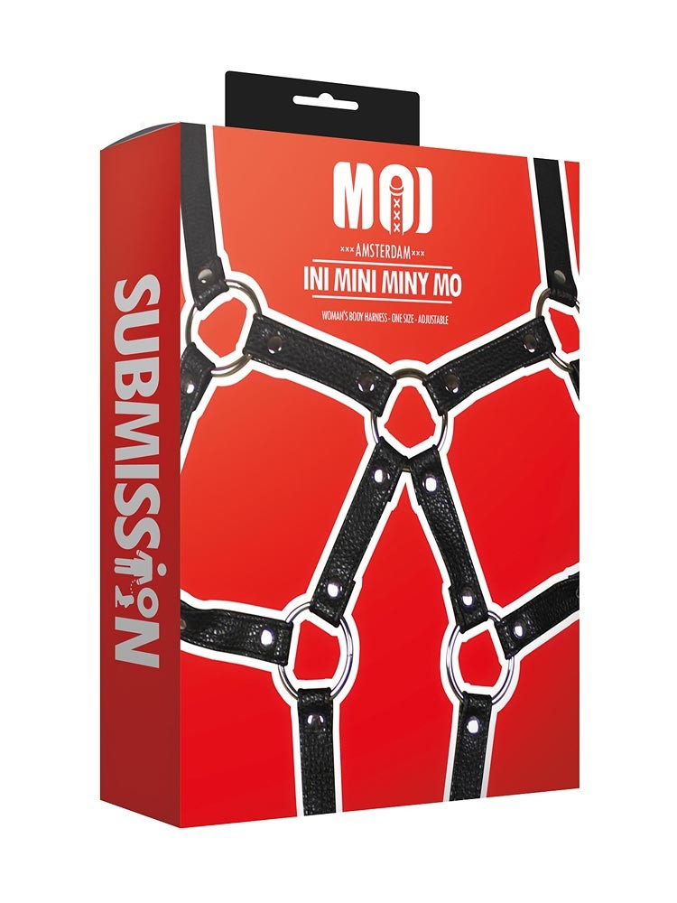 MOI Submission Ini Mini Miny Mo Womans Body Harness, schwarz