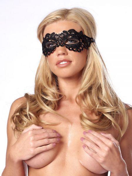 Augenmaske, schwarz