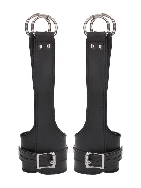 Ouch! Pain Suspension Cuffs: Leder-Fesseln, schwarz