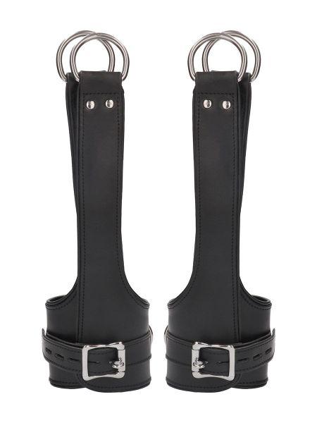 Ouch! Pain Suspension Cuffs: Leder-Fesseln, schwarz