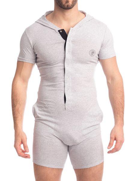 L'Homme Hypnos: Short Body mit Kapuze, grau