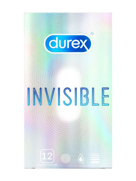 Durex Invisible: Kondome, 12er Pack