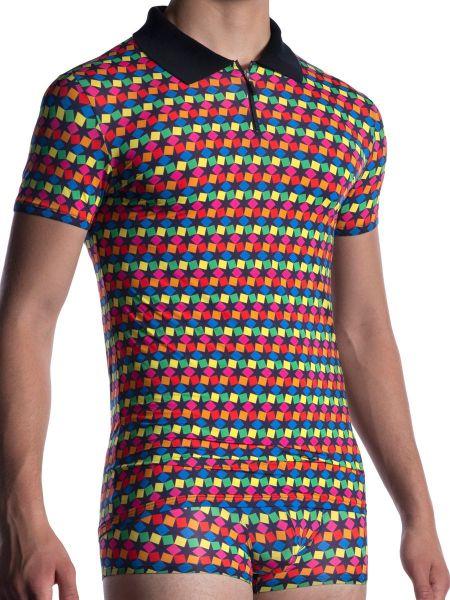 MANSTORE M2056: Polo Shirt, rainbow202