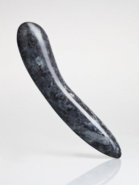Laid D.1: Granit-Dildo, blauschwarz