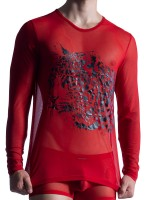 MANSTORE M850: Long Sleeves, rot