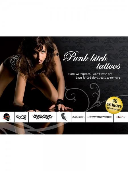 Tattoo-Set: Punk Bitch
