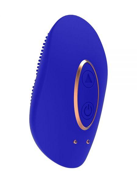 Elegance Precious: Mini-Aufliege-Vibrator, blau