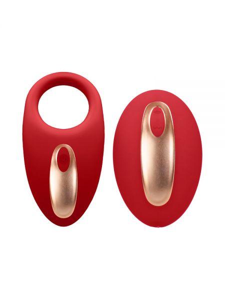 Elegance Poise: Vibro-Penisring mit Vibro-Fernbedienung, rot