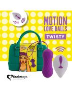 FeelzToys Twisty: Vibro-Liebeskugel, lila