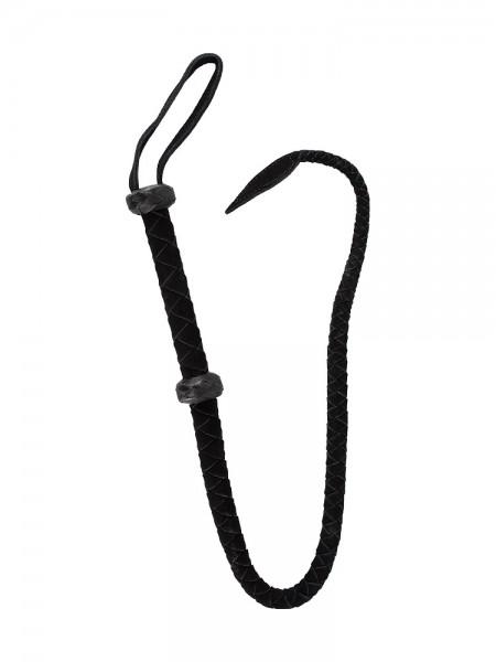 Lederpeitsche, schwarz