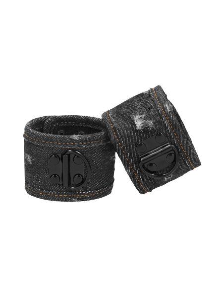 Ouch! Denim Handcuffs: Handfesseln, jeans-schwarz
