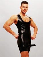 Latex-Body mit Penis-/Hodenhülle: Master Arnaud, schwarz