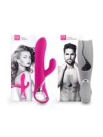 Lovers Premium Couples Set: Bunyvibrator + Masturbator, pink/grau