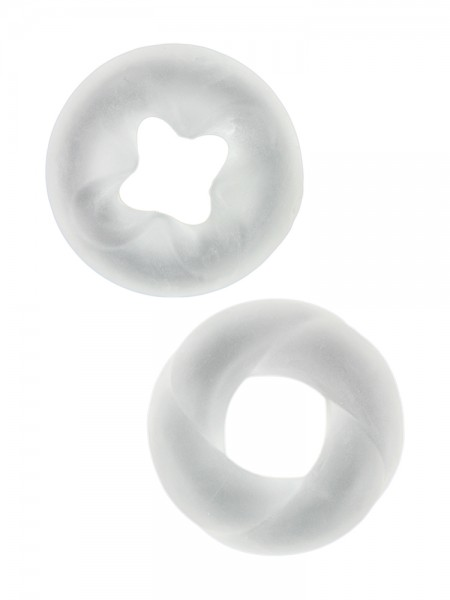 4M Endurance Cock Rings: Penisringe-Set, transparent