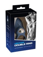 Vibrating Double Ring: Vibro-Penis- & Hodenring, blau