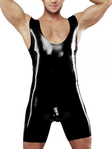 Latex-Body mit Ausbuchtung: Master Jules, schwarz