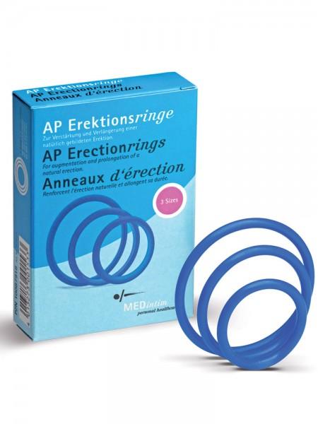 Erektionsringe: Penisringe-Set, blau