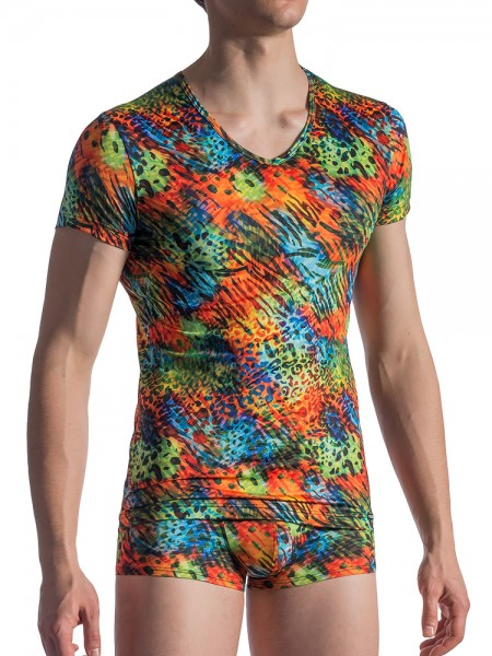 MANSTORE M801: V-Neck-Shirt, rainbow