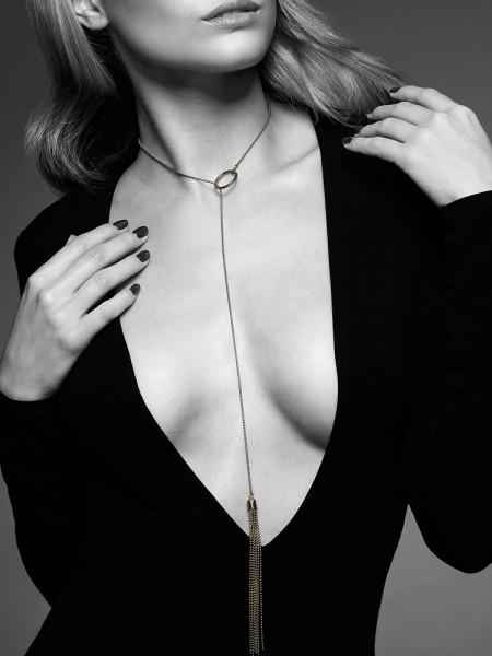 Bijoux Indiscrets The Magnifique: Halskette mit Minipeitsche, gold