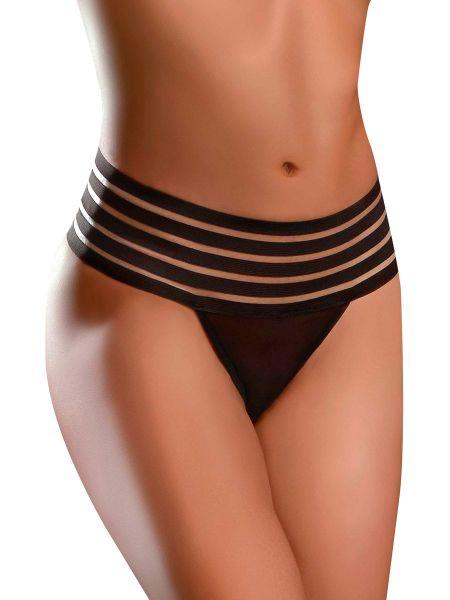 Hookup Crotchless Love Garter: Analplug-Panty, schwarz