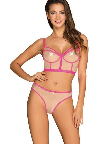 Obsessive Nudelia: Dessousset 2-teilig, nude/pink