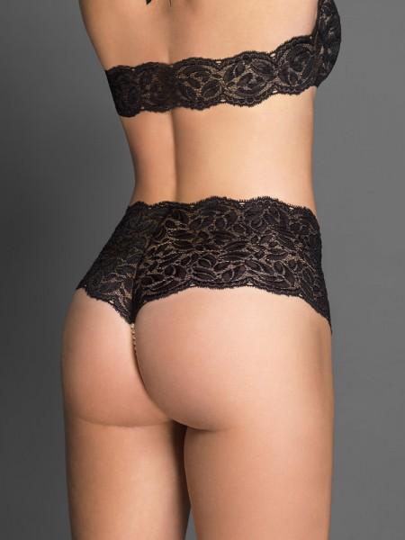 Bracli Culotte: Perlenpanty, schwarz