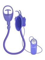 Butterfly Clitoral Pump: Vibrierender Klitoris-Sauger, lila