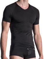 MANSTORE M800: V-Neck-Shirt, schwarz