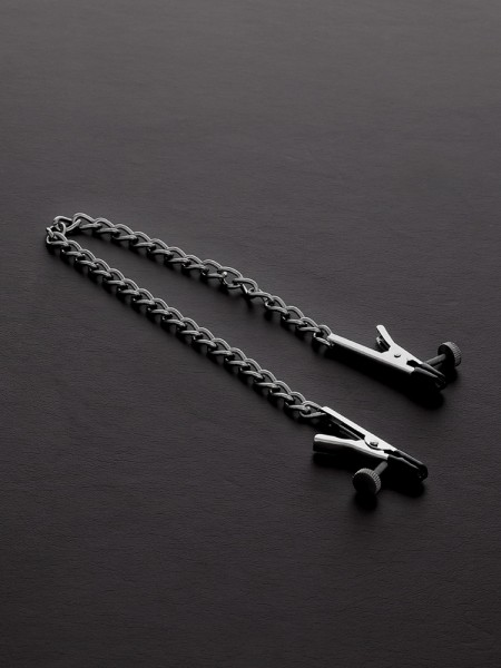 Triune Alligator Adjustable Nipple Clamps: Edelstahl-Nippelklemmen mit Kette