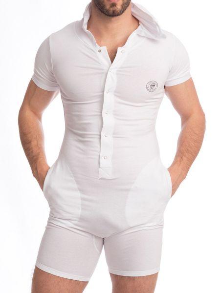 L'Homme Hypnos: Short Body mit Kapuze, weiß