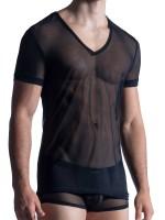 MANSTORE M850: V-Neck-Shirt, schwarz