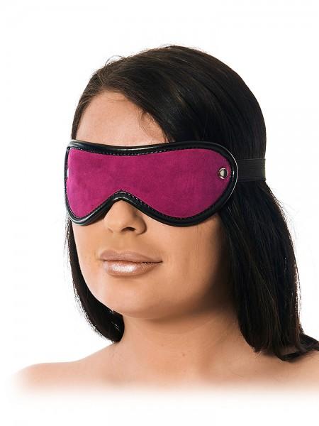 Velourleder-Augenmaske, pink