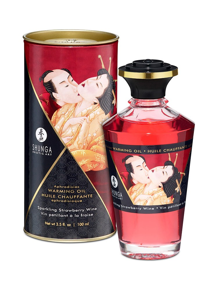 Shunga Intimate Kisses �l Strawberry Wine: Körperöl (100ml)