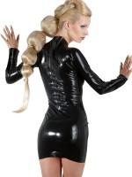 Latex-Minikleid, schwarz