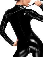 Noir Handmade: Lack-Catsuit F188, schwarz