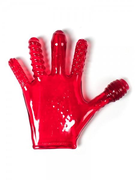 Finger Fuck: Penetrationshandschuh, rot