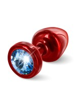 Diogol Buttplug Anni Round: Analplug (25mm), rot/blau