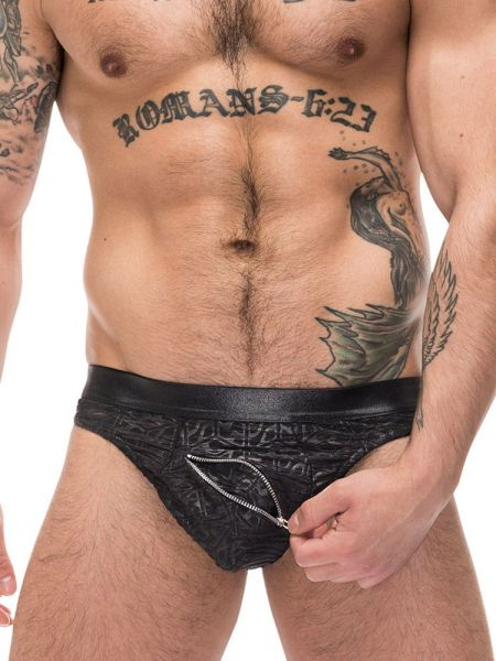 Male Power Zip It: Zip String, schwarz