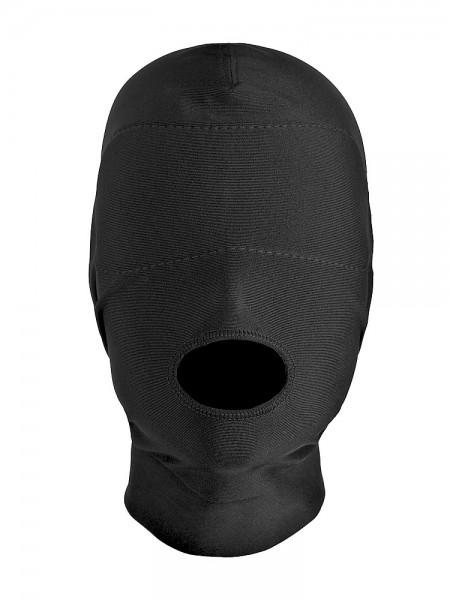 Master Series Disguise Open Mouth Hood: Kopfmaske, schwarz