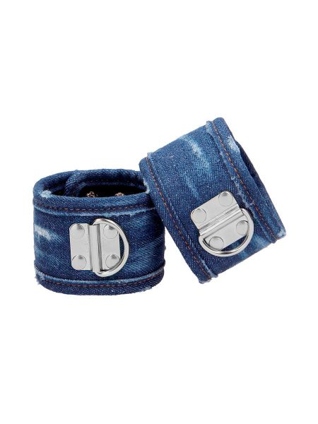 Ouch! Denim Handcuffs: Handfesseln, jeans-blau