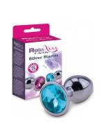 RelaXxxx Silver Starter Plug: Analplug S, silber/blau