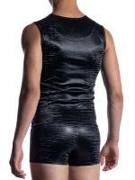 MANSTORE M2052: Zipped Vest, schwarz