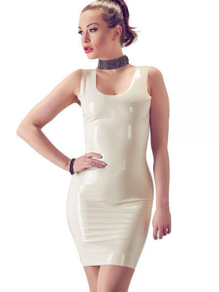 Latex Minikleid, weiß