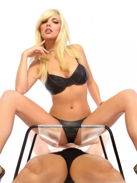 Fetish Fantasy Incredible Sex Stool: Liebesstuhl, schwarz/transparent