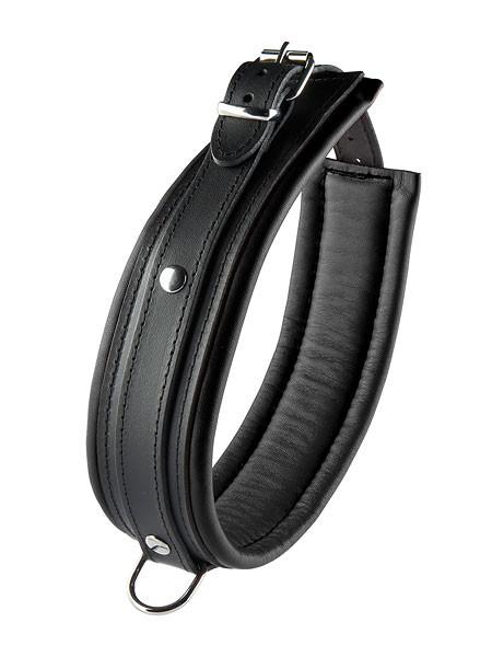 Hidden Desire: Leder-Halsfessel, schwarz (5cm)